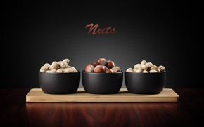 Картинка орехи, wood, фундук, nuts, арахис, фисташки, разделочная доска