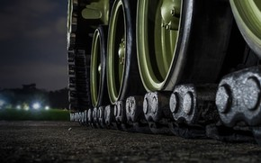 Обои ночная дорога, катки, боке, размытость, wallpaper., выдержка, огни освещение, track, свет фар, макро, БМД, БМП, ...
