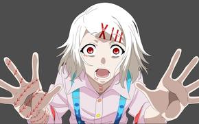 Картинка anime, Rei, red eyes, boy, asian, human, hunter, japanese, oriental, asiatic, powerful, strong, Tokyo Ghoul, …