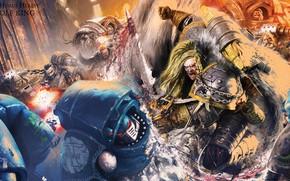 Картинка sword, Horus Heresy, Space Wolves, space marine, battle, book, Warhammer 40 000, Leman Russ, traitors, …