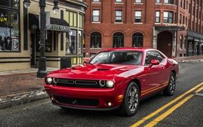 Обои Challenger, дорога, челенджер, улица, додж, Dodge, красный
