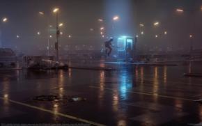 Картинка город, фонари, 52hz