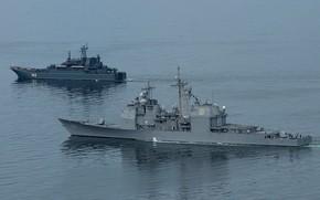 Картинка калининград, эскадренный миноносец, большой десантный корабль, uss normandi
