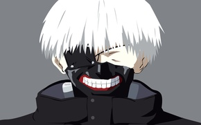 Картинка anime, boy, assassin, asian, mask, manga, japanese, oriental, asiatic, strong, Tokyo Ghoul, Ken Kaneki, hitokiri, …