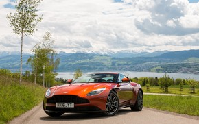 Обои DB11, ORANGE, ASTON MARTIN