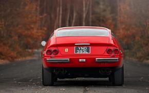 Картинка Красный, Цвет, Авто, Ретро, Машина, Классика, Автомобиль, 365, Спорткар, Gran Turismo, Сзади, Daytona, Ferrari 365, …