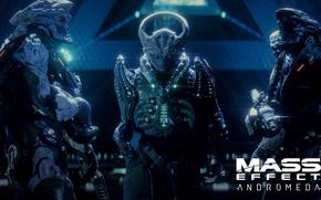 Картинка gun, game, weapon, alien, Mass Effect, suit, Mass Effect Andromeda