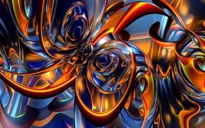 Обои свет, фон, абстракция, картинка, мерцание, обои, рисунок, фантазия, узор, светящиеся линии