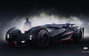 Картинка силуэт, автомобиль, batmobile concept