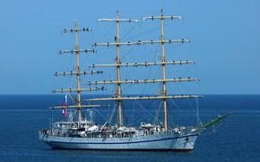 Картинка весна, черное море, херсонес, парусный корабль