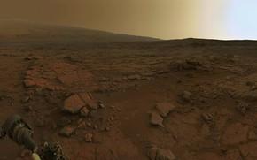 Обои марсоход, рассвет на Марсе, Марс