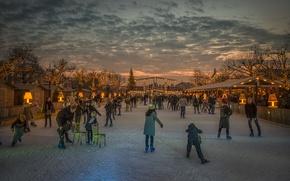 Картинка зима, каток, Amsterdam, Wonder Land