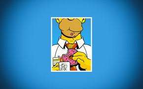 Картинка Симпсоны, Рисунок, Рамка, Гомер, Simpsons, Арт, Мультфильм, The Simpsons, Homer Simpson, Гомер Симпсон, Homer, 20th ...