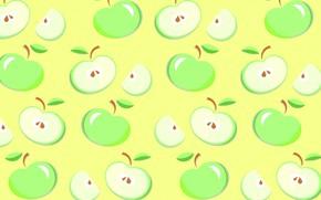 Обои яблоко, еда, вектор, фрукты