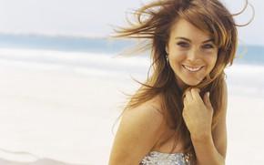 Картинка лицо, улыбка, актриса, Lindsay Lohan, Линдси Лохан