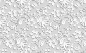 Обои white, background, flower, текстура, цветы, pattern