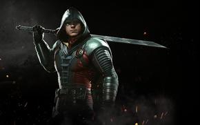Картинка sword, game, Robin, NetherRealm Studios, Injustice 2, Son of Batman, Damian Wayne