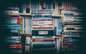 Обои макро, фон, книги