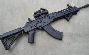 Обои Калашников, AKM, кастом, assault Rifle, weapon, тюнинг, автомат, Custom, штурмовая винтовка, 7.62, АКМ, оружие, Калаш