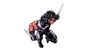 Картинка костюм, супергерой, ножи, марвел