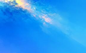 Картинка небо, девушка, свет