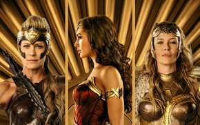 Обои strong, Diana, Hippolyta, Antiope, Connie Nielsen, blonde, queen, Robin Wright, DC Comics, cinema, warrior, film, ...