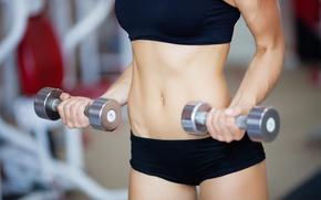 Картинка Fitness, abs, dumbells