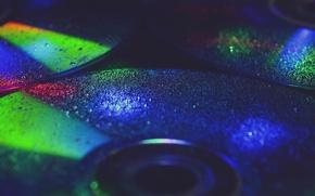 Картинка цвета, макро, компакт диск