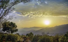 Обои Солнце, Небо, Природа, Утро