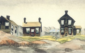 Картинка 1918, Charles Ephraim Burchfield, Coke Oven Homes