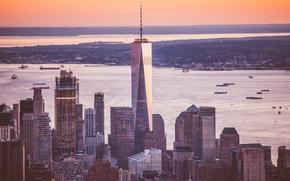 Картинка город, небоскребы, панорама, мегаполис, New York
