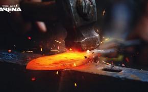 Картинка молот, железо, наковальня, Total War Arena, promo arts