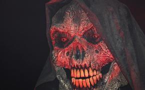 Картинка череп, зубы, нос, маска, Ghost, Skull, mask, Привидение