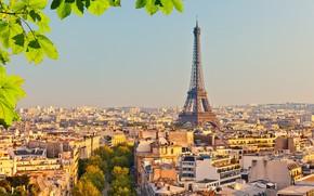 Обои башня, sunset, город, Эйфелева башня, tower, Париж, Eiffel, достопримечательность