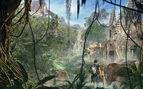 Картинка путешественники, Cambodian jungle, temple ruins