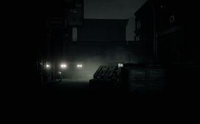 Картинка ночь, город, survival horror, Husk, Шиверклифф