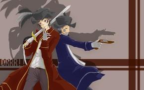 Картинка аниме, арт, пират, парень, Durarara!!, Всадник без головы, Орихара Изая