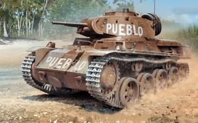 Картинка Stridsvagn, шведский лёгкий танк, pueblo, Landsverk, L-60