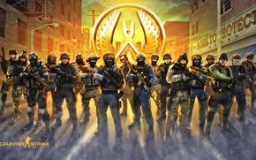 Картинка Оружие, logo, Логотип, Valve, SWAT, Counter-Strike, SAS, FBI, Steam, Weapons, Спецназ, Counter-Strike: Global Offensive, IDF, …