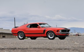 Картинка Boss 302, Ford Mustang, Fastback, 1970, muscle classic