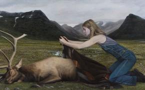 Картинка картина, Highlands, норвежский художник, Christer Karlstad