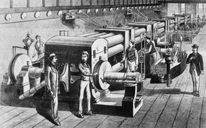 Картинка рабочие, электростанция, модели станции, edison pearl street station