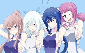 Обои game, anime, woman, oriental, girl, girls, japanese, asiatic, sport, manga, asian, Keijo, Keijo!!!!!!
