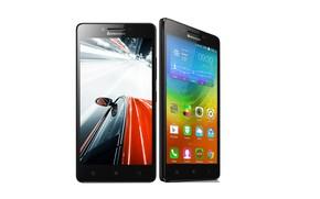 Картинка белый фон, Lenovo, два смартфона, A6000 plus