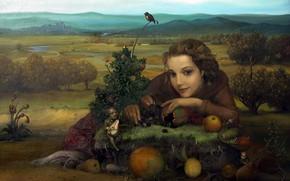Картинка Земля, Сюрреализм, Лазарев И.А, Четыре элемента, из цикла Стихии