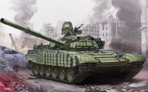Обои Т-72Б1, арт, танк, советский, рисунок