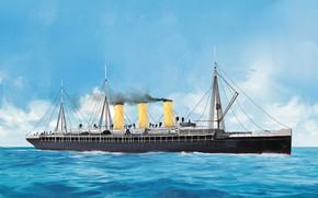 Картинка волны, корабль, Transatlantic Ships, augusta-victoria