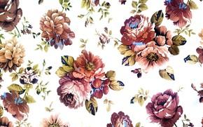 Обои фон, узор, текстура, ткань, винтаж, текстиль