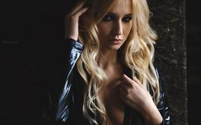 Картинка взгляд, модель, волосы, блондинка, SOLOVЬEV, Артем Соловьев, Аришка Миронова