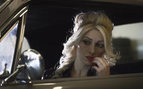 Картинка авто, взгляд, модель, зеркало, MARINA